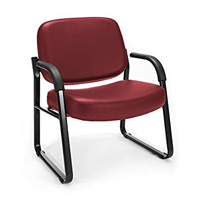 OFM Big and Tall Vinyl Guest/Reception Chair with Arms by Ofm