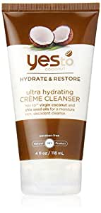 Yes To Coconut Ultra Hydrating Creme Cleanser, Brown, 4 Fluid Ounce