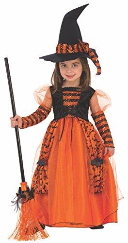 🥇 Disfraz de Bruja Brillante para niña