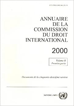 Book Annuaire de la Commission du Droit International 2000 (French Edition)