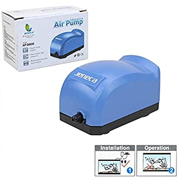Red_Planet Air Pump Bomba de Aire Compresor Oxigenador para Pecera o Acuario AP-9800: Amazon.es: Jardín