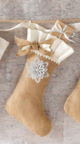 Mud Pie Glitter Ornament Stocking