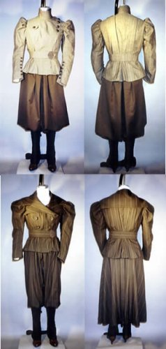 Ladies 1890's Victorian Sporting Costumes with Leggings (Victorian Costumes 1890)
