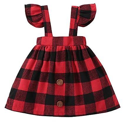 405b115daa Girl Dress Infant Baby Girls Braces Sleeveless Plaid Overalls Skirt Clothes  Children Wear Tartan Skirts Suspender
