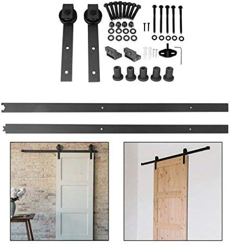 6.6 ft – Herraje para Juego, Puerta corredera unidad Carril colgantes sistema de puerta corredera puerta de hardware Kit de divisores para puertas correderas puertas interiores y armarios de pared: Amazon.es: Bricolaje