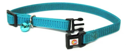 "Hamilton Adjustable Break-A-Way Safety Cat Collar, Teal, 3/8"" Wide"