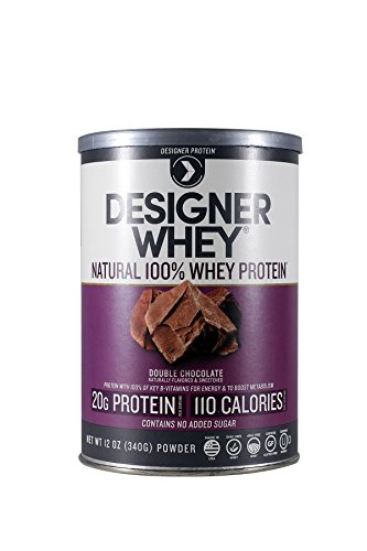 Designer Protein 100% Premium Whey Protein Powder, Double Chocolate, 12-Ounce (Pack of 2) (Designer Whey Chocolate)
