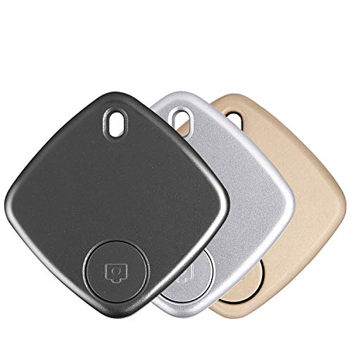 Key Finder, Effeltch Tracker Smart Key Phone Wallet Finder Locator GPS Tracker Anti Lost Alarm with Selfie Shutter for iOS, Android Smartphone (Black+Gold+Silver)