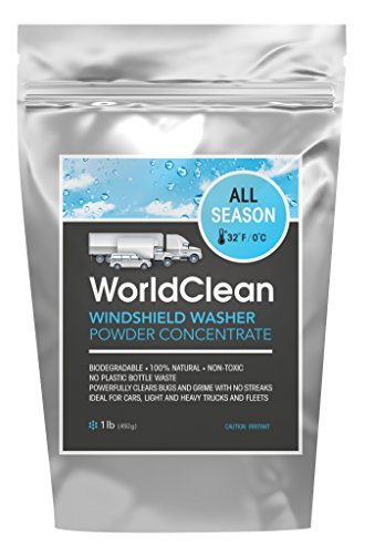 WorldClean biodegradable windshield washer powder concentrate 1lb (yields 55gal) (Windshield Washer Fluid Mix compare prices)