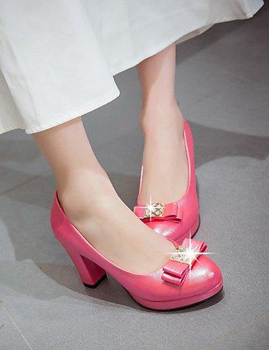 5 Y Ggx rosa oficina Pink Plataforma tacones Eu42 Cn43 pu Robusto tacón tacones us10 Casual Rojo Mujer 5 Blanco Uk8 Trabajo gFwqrg0a