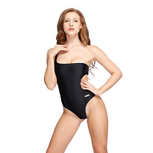 Un Tagliare Da Black Costume Bagno I Swimwear glam Pezzo Monospalla wqgnI1aU