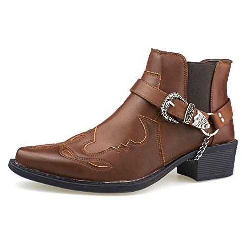 Footwear Western London uomo Stivali Brown R7qvWwxqdT