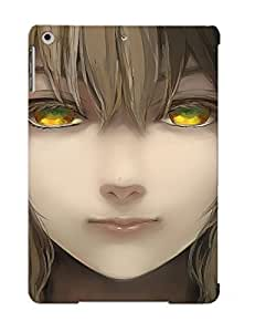 Stylishgojkqt Durable Defender Case For Ipad Air Tpu Cover(Anime Touhou Girl Brunette Close Up Face Headphones Short Hair Soft Shading Toyosatomimi No Miko Video Game Yellow Eyes) Best Gift Choice