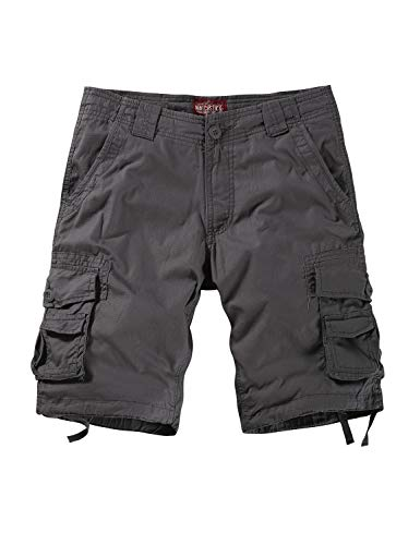 (Match Men's Twill Comfort Cargo Short Without Belt #3116 (Label Size M/30 (US 29), Gray))