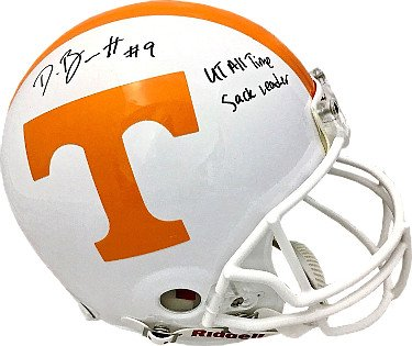 RDB Holdings & Consulting CTBL-020034 Derek Barnett Signed Tennessee Volunteers Riddell Full Size Replica Helmet No.9 UT All Time Sack Leader - PSA Hologram