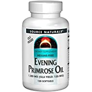 Source Naturals Evening Primrose Oil - Hexane-Free - 1350mg - GLA Yield: 135 mg - Cold-Pressed - 120 Softgels