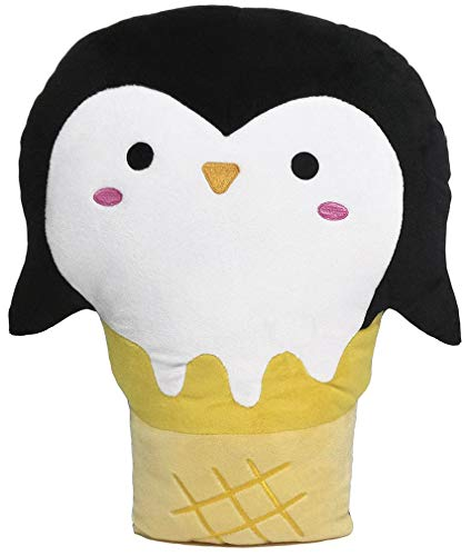 iscream Strawberry Scented Penguin Ice Cream Cone Embroidered 10