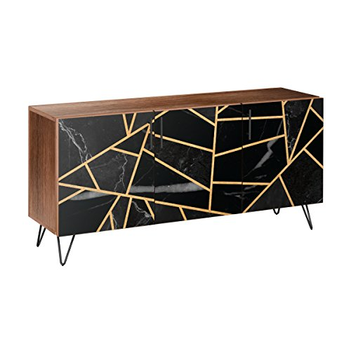Nye Koncept 13005711 Stormy Disposition Hairpin Sideboard44; Walnut & Black from Nye Koncept