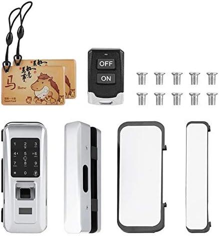 指紋ロック、ガラスドアリモートコントロールドアロックキーレス電気指紋タッチキーパッドゲートロックコンビネーションドアロックホームオフィスホテル用