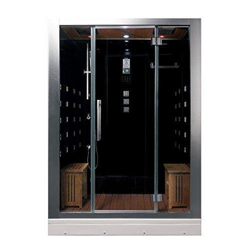 Steam Kit Shower Enclosure - ARIEL Platinum DZ972-1F8-BLK Black Steam Shower
