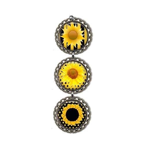 Sunflower Bottlecap Ornament