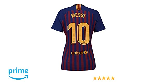 98aeaf39f Amazon.com   Noumhtz Womens Barcelona  10 Messi New 2018 19 Home Soccer  Jersey   Sports   Outdoors