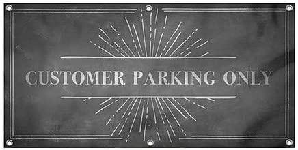 Public Parking CGSignLab Ghost Aged Blue Heavy-Duty Outdoor Vinyl Banner 12x4