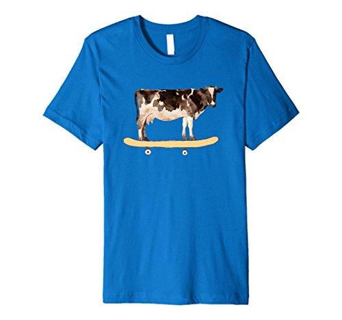 Skateboarding Cow Funny Skateboard TShirt