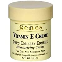 GENES Vitamin E Swiss Collagen Creme - 16 oz (2 PACK - Total 32 oz) by Genes