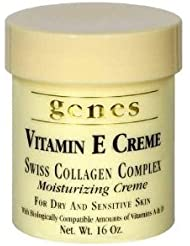 GENES Vitamin E Swiss Collagen Creme - 16 oz (2 PACK - Total 32 oz)