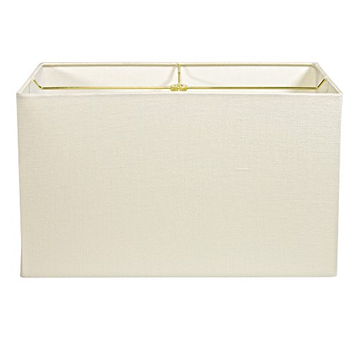 Cream Linen Rectangle Lampshade - 17""