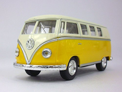Volkswagen - VW T1 (Type 2) Bus 1/32 Scale Diecast & Plastic Model - YELLOW by Kinsmart