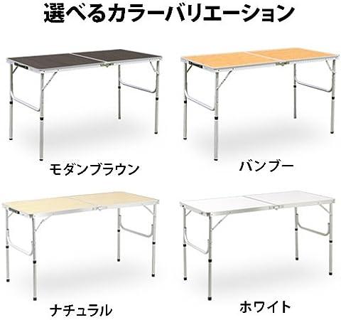 Mesa de picnic de aluminio 120 ~ 60 cm plegable blanco al2ft-120 ...
