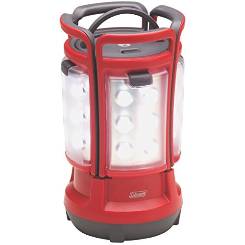 Coleman Quad 4 Lights In One Removable Section 190-Lumen Rechargable Outdoor Camping LED Lantern