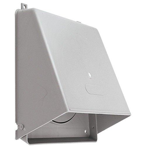 BESTChoiceForYou Plastic Wall Cap (6), Wallcap W/Damper Plastic 6in, Wall cap With Damper