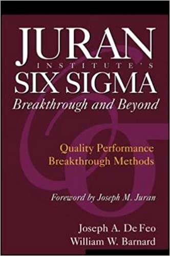 Juran Institutes Six Sigma Breakthrough and Beyond: Quality Performance Breakthrough Methods