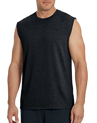 Champion Men`s Classic Jersey Muscle Tee, XL, Granite Heather
