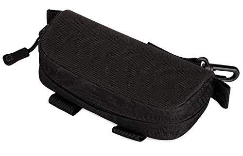 ArcEnCiel Tactical MOLLE Eyeglasses Hard Case Sunglasses Carrying Box Protective Bag Pouch (Black)