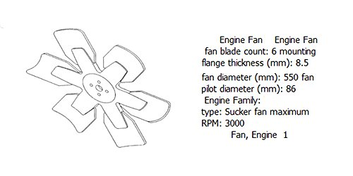 Engine fan 4931828 for diesel engine: