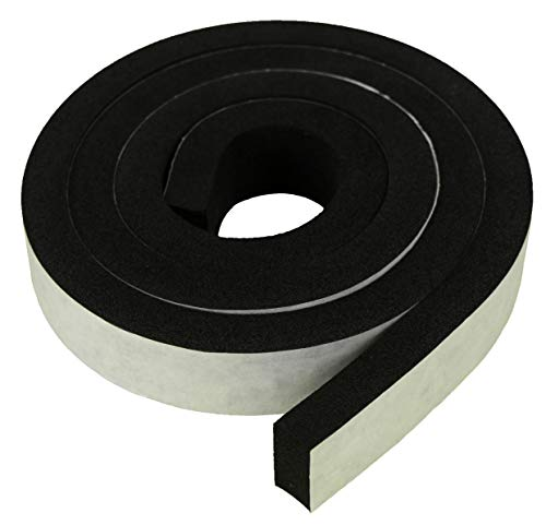 XCEL - Weather Stripping Foam Rubber Tape with Adhesive, Size 13 Feet x 1 Inch x 1/2 Inch