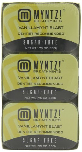 Myntz Vanillamynt Blast Breathmints, 1.75-Ounce Containers (Pack of 12)