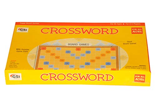 (GSI Scrabble Crossword Board Game With Laminated PVC Board for Word Building and Vocabulary Learning)