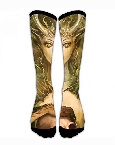SARA NELL Crew Socks Banshee and Skull Men&Women Sport Athletic Socks Personalized Funny Crazy Unique Gift Socks ()