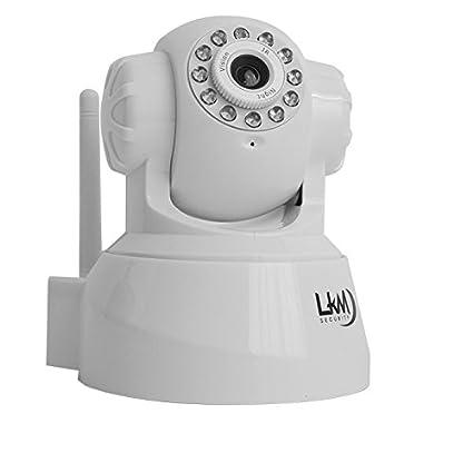 Cámara de vigilancia Cámara IP inalámbrica Wifi LKM® Pan Tilt motorizado de color blanco Interno