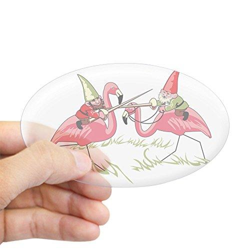 CafePress Gnomes Oval Bumper Sticker, Euro Oval Car Decal
