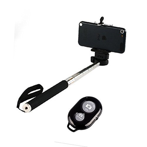 Skyleo-Global-Selfie-Stick-with-an-Universal-Phone-Holder-and-Wireless-Remote-Shutter-works-via-a-Free-Application-auto-bluetooth-sync-via-App--Feature-to-Toggle-Between-Front-Back-Camera-with-a-Click