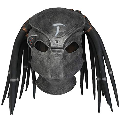 Predator Mask With Dreads - Predater Helmet Updated Horror Full Head