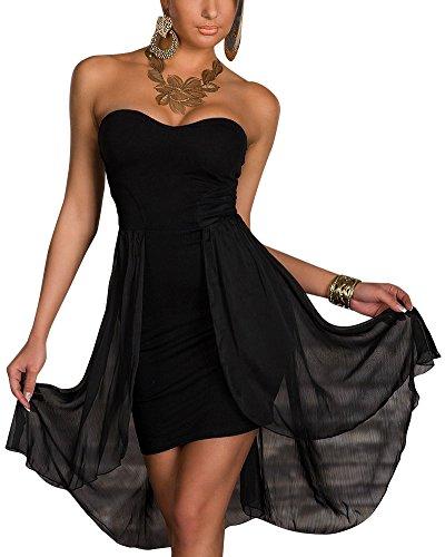 Cocktail De Bustier Asymtrique Noir Femme Robe Soire Robe De Dos Nu 88wzaZ