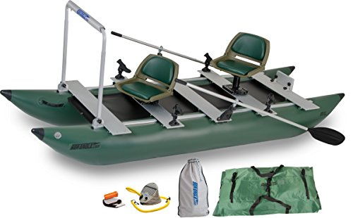 Sea Eagle Green 375fc Inflatable FoldCat Fishing Boat – Pro Angler Guide Package