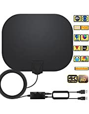$26 » TV Antenna -Amplified HD Indoor Digital TV Antenna Long 250+ Miles Range Antenna Support 4K 1080p Fire Stick and All Television Indoor Smart HDTV Antenna for Local Channel VHF UHF-17ft Coax Cable (bl)